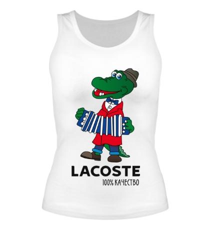 Женская майка Lacoste 100%