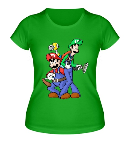 Женская футболка Марио и Луиджи