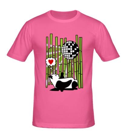 Мужская футболка Панда любит диско