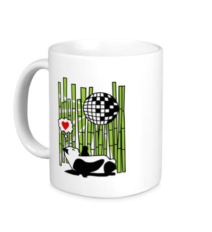 Керамическая кружка Панда любит диско