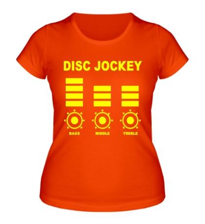 Женская футболка Disc Jockey