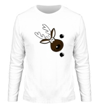 Мужской лонгслив Веселый олень