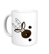 Керамическая кружка Веселый олень