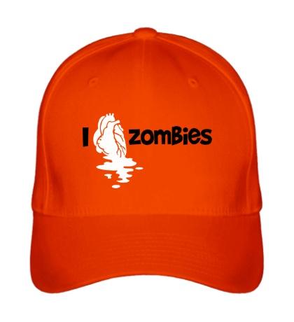Бейсболка I love zombies