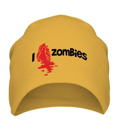 Шапка I love zombies