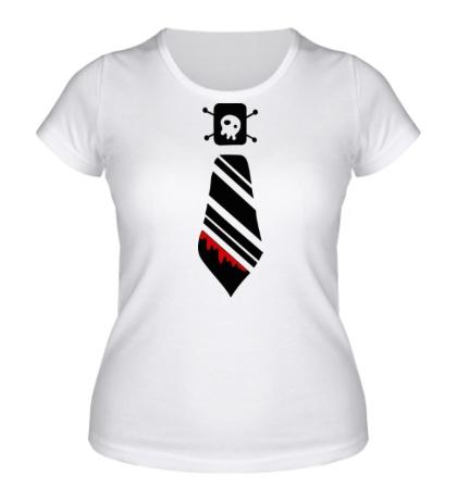Женская футболка Кровавый галстук