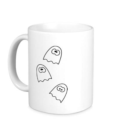 Керамическая кружка Глазастые привидения