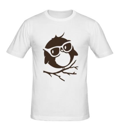 Мужская футболка Совенок в очках