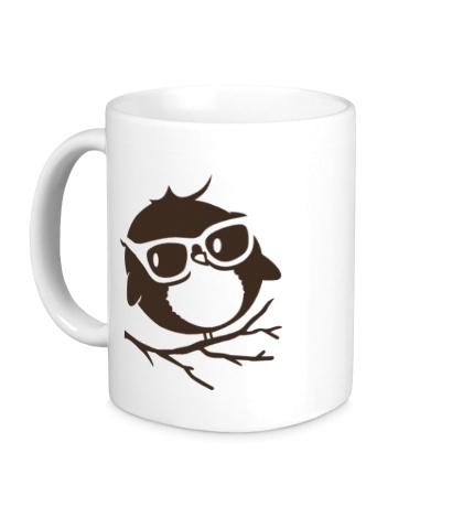 Керамическая кружка Совенок в очках
