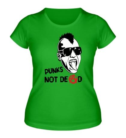 Женская футболка Punks not Dead