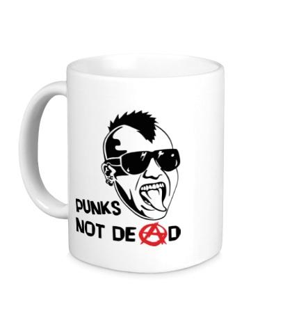 Керамическая кружка Punks not Dead