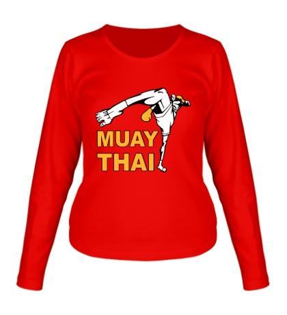 Женский лонгслив Muay Thai Low Kick