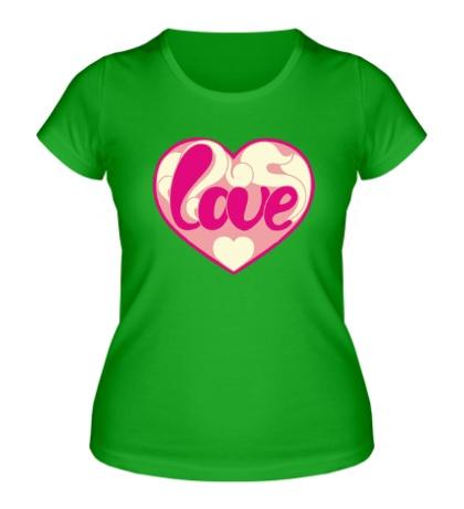 Женская футболка Надпись LOVE