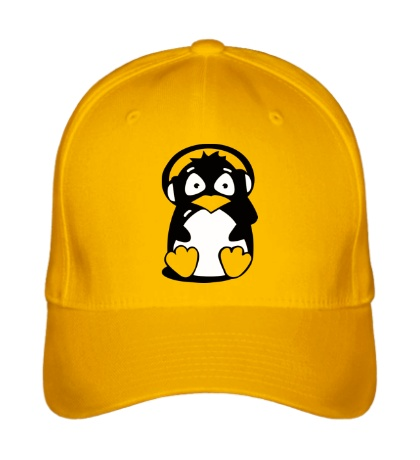Бейсболка Пингвин в наушниках