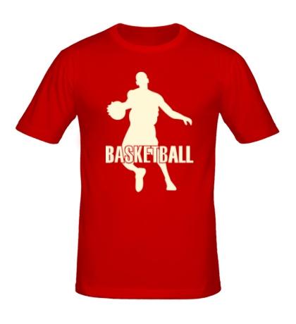 Мужская футболка Basketball Player Glow