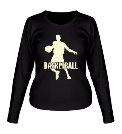 Женский лонгслив Basketball Player Glow