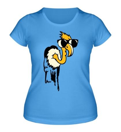 Женская футболка Гриф в очках glow