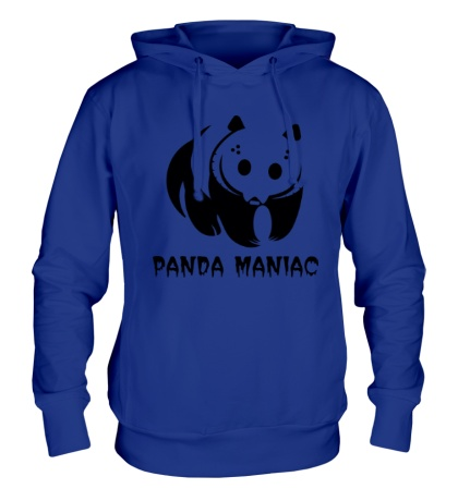 Толстовка с капюшоном Панда маньяк