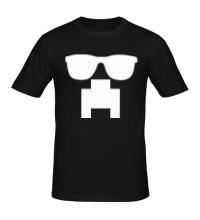 Мужская футболка Крипер в очках