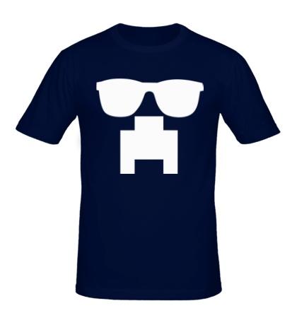 Мужская футболка «Крипер в очках»