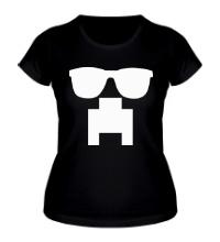 Женская футболка Крипер в очках