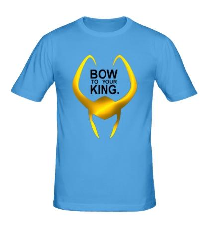 Мужская футболка Loki: Bow to your king