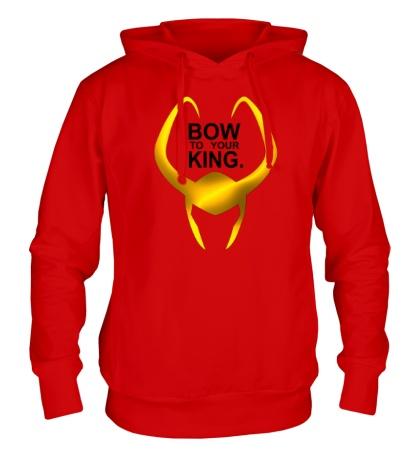 Толстовка с капюшоном Loki: Bow to your king