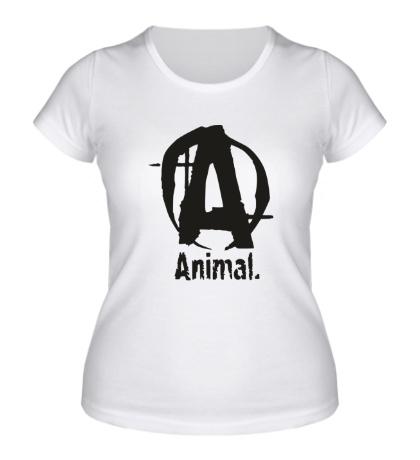 Женская футболка Animal Logo