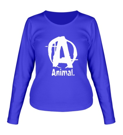 Женский лонгслив Animal Logo