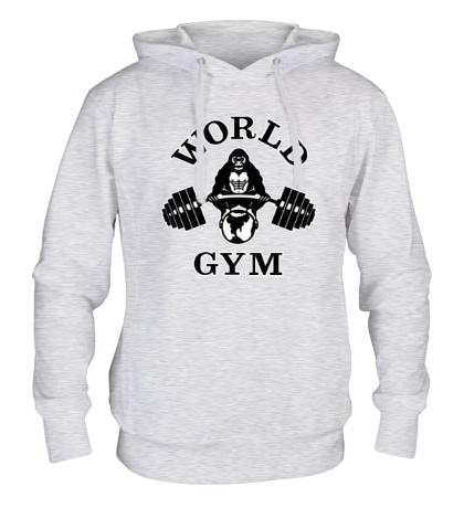 Толстовка с капюшоном World Gym