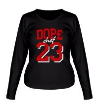 Женский лонгслив Dope chef 23