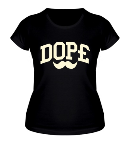 Женская футболка Dope усы glow