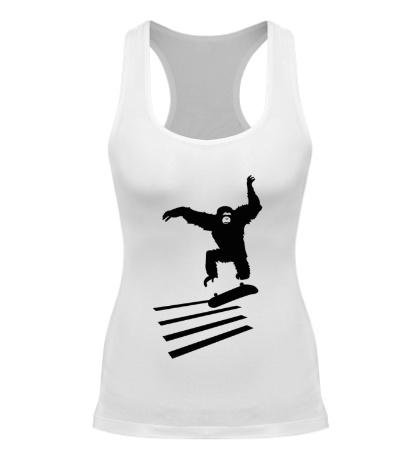 Женская борцовка Обезьяна на скейте