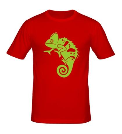 Мужская футболка Хамелеон