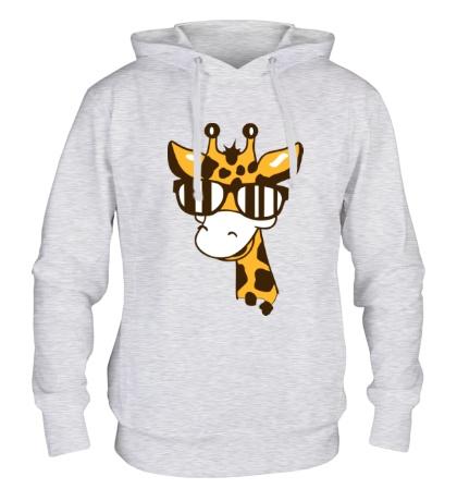 Толстовка с капюшоном Жираф в очках