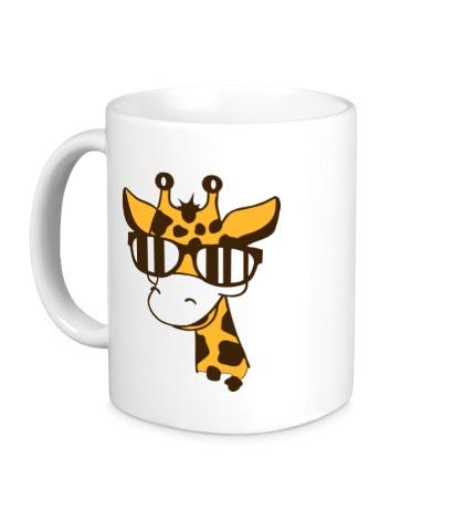 Керамическая кружка Жираф в очках