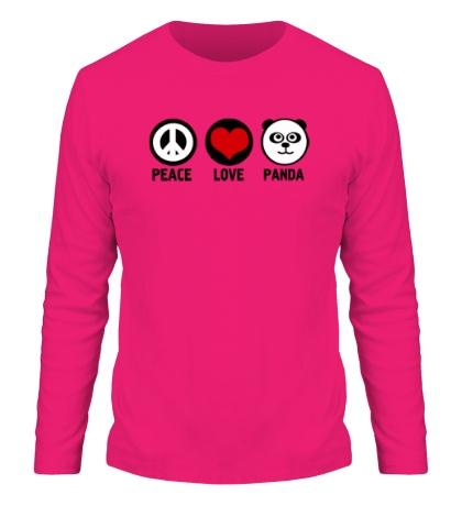 Мужской лонгслив Peace love panda
