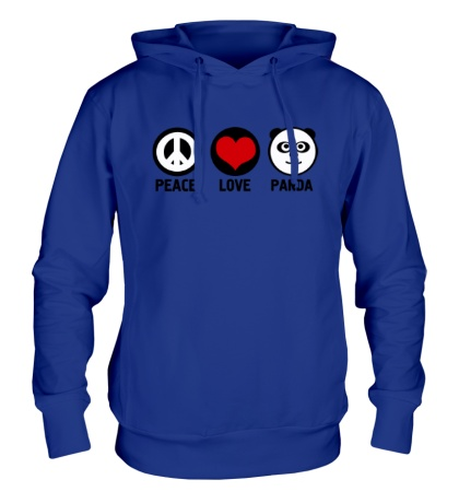 Толстовка с капюшоном Peace love panda
