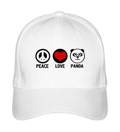 Бейсболка Peace love panda