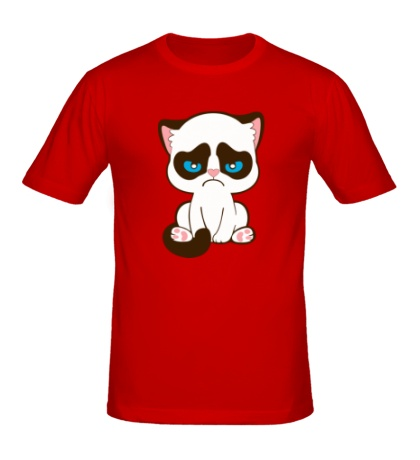 Мужская футболка Недовольный котенок
