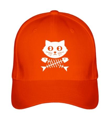 Бейсболка Кот и скелет рыбы