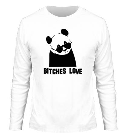 Мужской лонгслив Panda bitches love