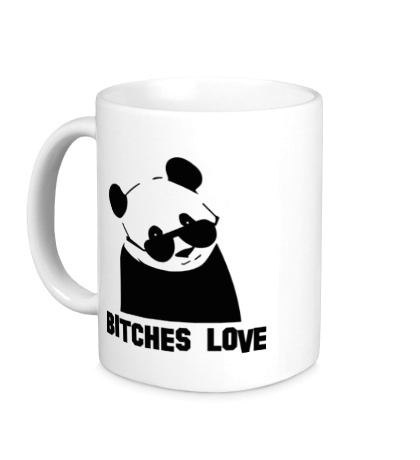 Керамическая кружка Panda bitches love