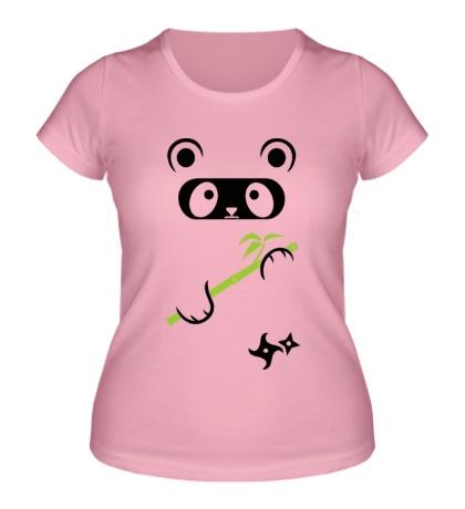 Женская футболка Панда ниндзя