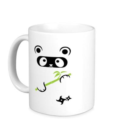 Керамическая кружка Панда ниндзя