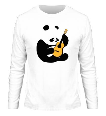 Мужской лонгслив Панда гитарист