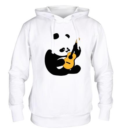 Толстовка с капюшоном Панда гитарист