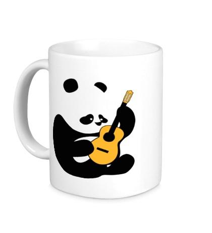 Керамическая кружка Панда гитарист