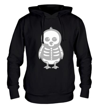 Толстовка с капюшоном Рентген пингвина