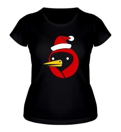Женская футболка Омская птица c колпаком